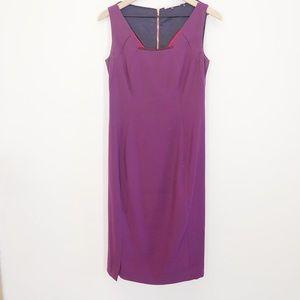 Elie Tahari Purple Sheath Dress Size 4